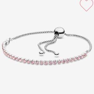 Pandora pink sparkling slider bracelet